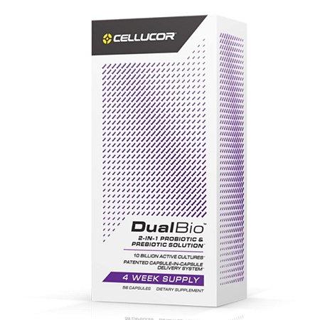 DualBio 10 Bilhões Probiótico e Prebiótico 56 Caps Cellucor