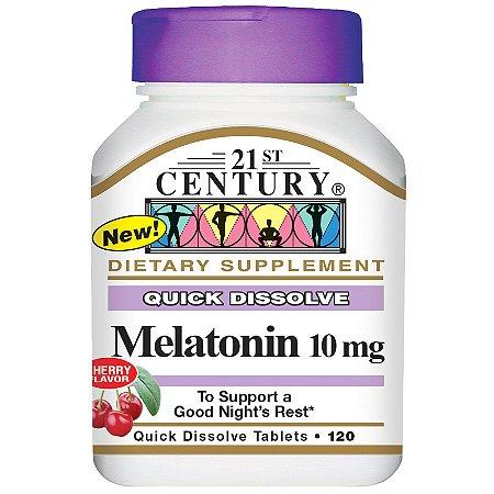 Melatonina 10mg 120 Caps Dissolução Rápida 21st Century