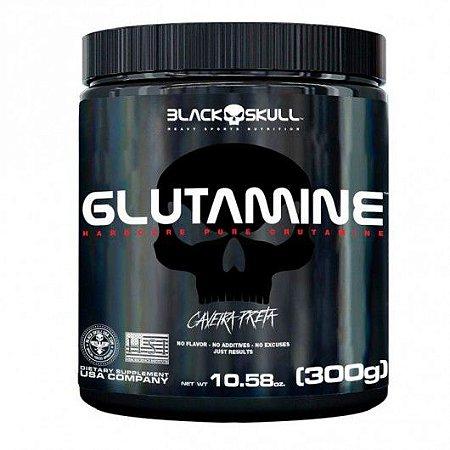 Glutamina Caveira Preta 300g Black Skull