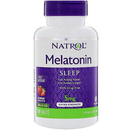 Melatonina 5mg Sublingual Fast Dissolve 150 Tabletes Natrol