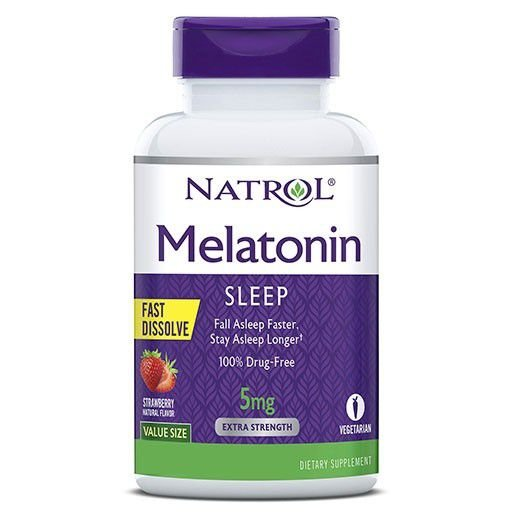 Melatonina 5mg Sublingual Fast Dissolve 250 Tabletes Natrol
