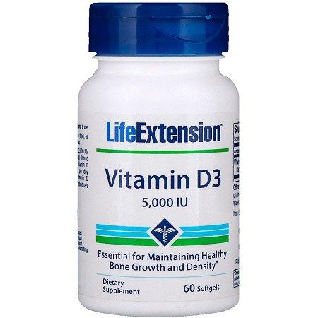 Vitamina D3 5000ui 60 Caps Life Extension