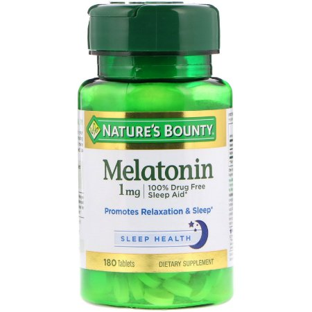 Melatonina 1mg 180 Tabletes Natures Bounty