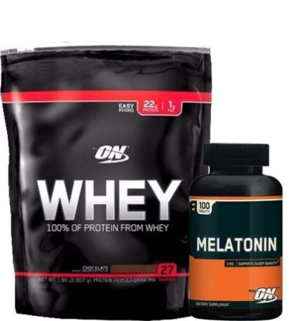 Combo On Whey 100% 824g + Mel On 3mg Optimum