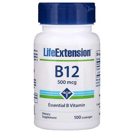 B12 100 Caps 500mcg Life Extension