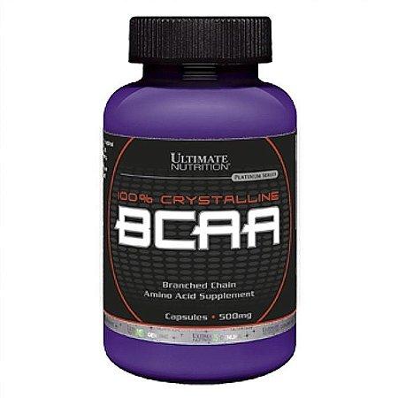 100% Crystalline Bcaa 500mg 200 cápsulas Ultimate Nutrition