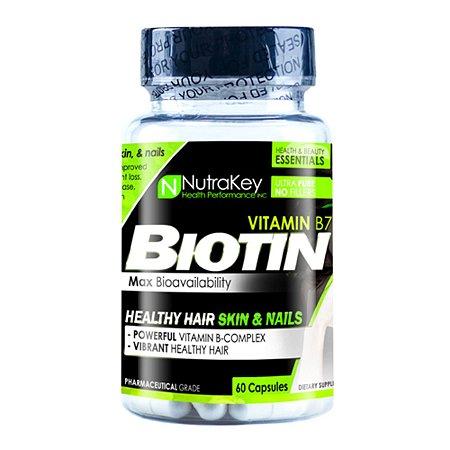 Biotina 5000mcg 60 Cápsulas Nutrakey