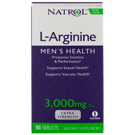 L-Arginina Força Máxima 3000mg 90 Tabletes Natrol