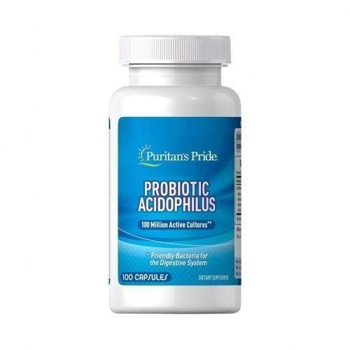 Probiótico Acidophilus 100 Cápsulas Puritan's Pride