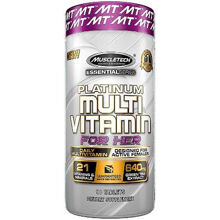 Platinum Multivitamínico For Her 90 Caps Muscletech