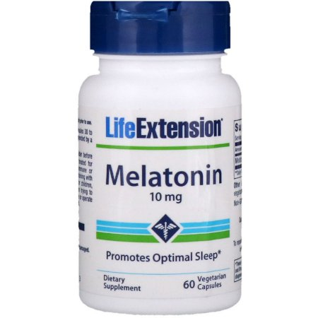 Melatonina 10mg 60 Cápsulas Life Extension