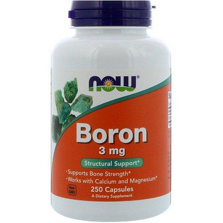 Boro 3mg 250 Caps Now Foods