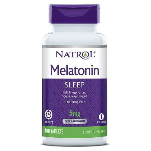 Melatonina 5mg Liberação Lenta (100 Tabletes) - Natrol