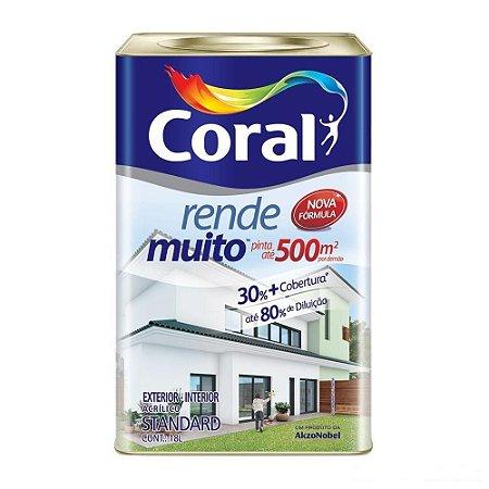 Tinta acrílica para parede Rende Muito Coral 18l branco fosco
