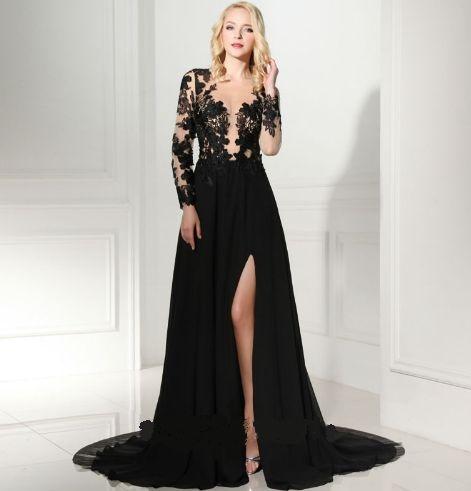 5cac42e45 VESTIDO RENDA E TULE COM FENDA LATERAL K SDDHJPWQC - Livia Fashion ...