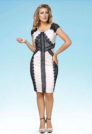 a38ceb607d43 VESTIDO BENGALINE DETALHE PRETO K RN8A22F5G - Livia Fashion ...