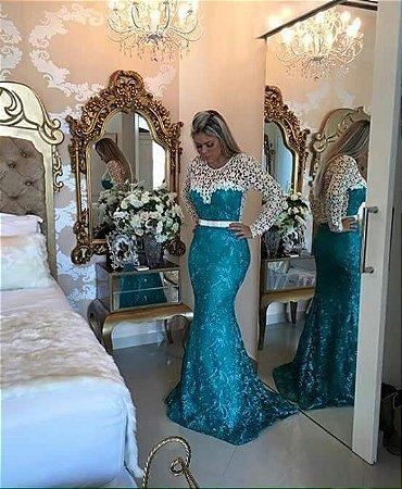 903a2faa43375 VESTIDO SEREIA COM RENDA K 9KPV5TZH6 - Livia Fashion - Atelier de ...