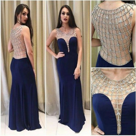 df9968f16ba82 VESTIDO AZUL MARINHO COM BORDADO TEIA K APNH5SNCS - Livia Fashion ...