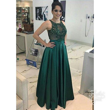 Vestido verde para formatura