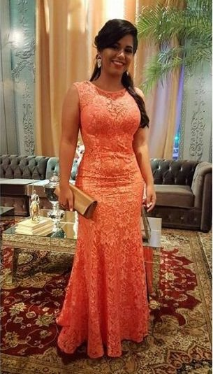 VESTIDO CORAL DE RENDA K DW3AT525Z
