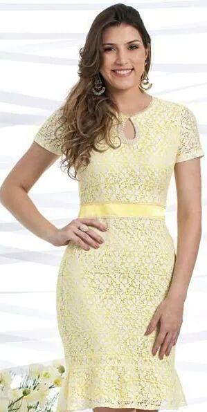 902389b0a VESTIDO DE RENDA DECOTE GOTA K AN6DJG9FG - Livia Fashion - Atelier ...