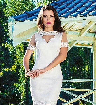 b42605d18 VESTIDO DETALHE EM TULE E RENDA K 79CZLVB3D - Livia Fashion ...