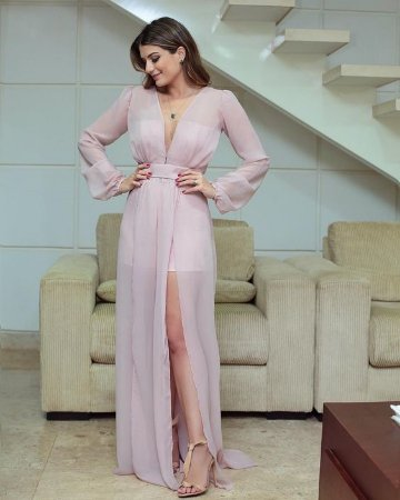 a875c8dbf VESTIDO ROSA COM FENDA E FÔRRO HOT PANTS K 4YFFQV5TA - Livia Fashion ...