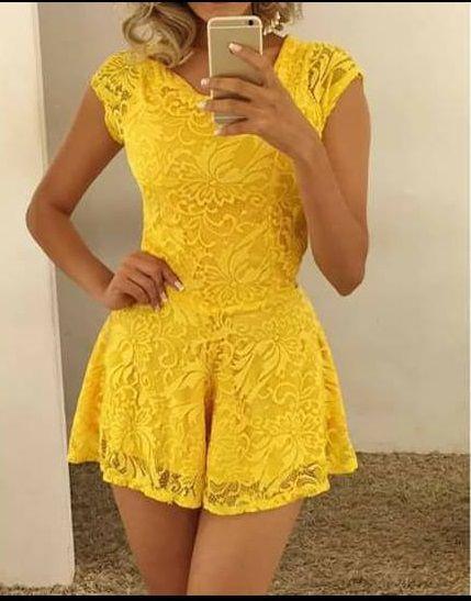 377a24667 MACAQUINHO AMARELO DE RENDA K 4NW7VMA2S - Livia Fashion - Atelier de ...