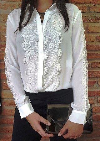 0a377ba9d CAMISA BRANCA COM RENDA K CVMTWUBS2 - Livia Fashion - Atelier de ...