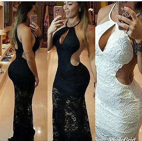 23bb63d6e VESTIDO PRETO DE RENDA COM TULE K 6ZSHTGU8V - Livia Fashion ...