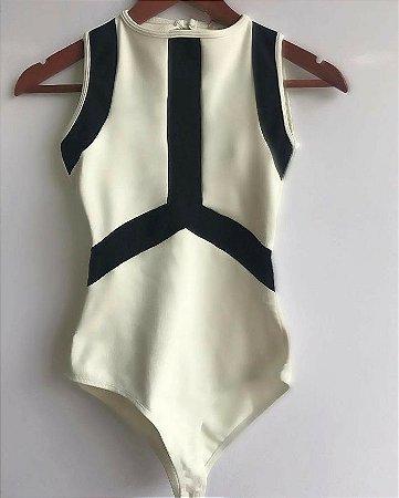 80a22fa62 BODY BRANCO COM DETALHES PRETOS K QWJRMG7BB - Livia Fashion ...