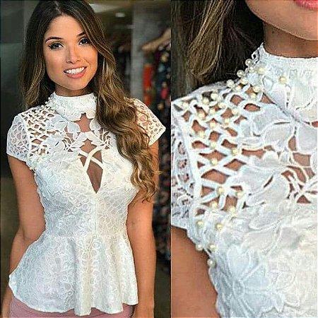 8eedc24bd BLUSA COM PEROLAS L 9WFBPELNA - Livia Fashion - Atelier de costura ...