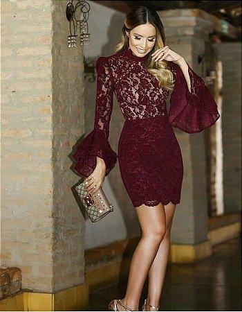 c94444e3e VESTIDO RENDA MARS A 2AZGYEF83 - Livia Fashion - Atelier de costura ...