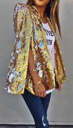 f8eed0796c BLAZER CAPA DOURADO DE PAETÊS K 2H4G2XBE2 - Livia Fashion - Atelier ...