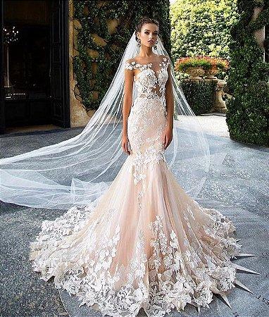 Vestido De Noiva Rosa Com Renda K Yqau2dyyk Vendemos Varejo E Atacado Produzimos Também Sob Medida O Modelo Que Você Escolher
