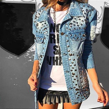 09072105a MAXI JAQUETA JEANS BORDADA K G6TQAAA4D - Livia Fashion - Atelier de ...