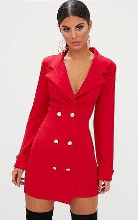Vestido Blazer Vermelho K Fmwye26p4