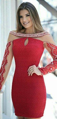 90be3c858 VESTIDO COM TULE RENDA E BORDADO K - Livia Fashion - Atelier de ...