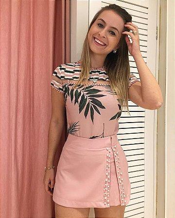 6a5304eb6 CONJUNTO SHORT SAIA BORDADA K - Livia Fashion - Atelier de costura ...