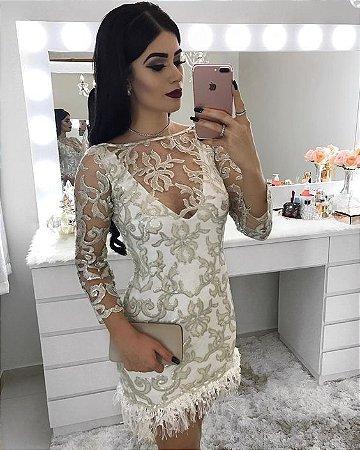 02a3e5e09 VESTIDO MANGA LONGA DE TULE BORDADO K 9CGTKZL38 - Livia Fashion ...
