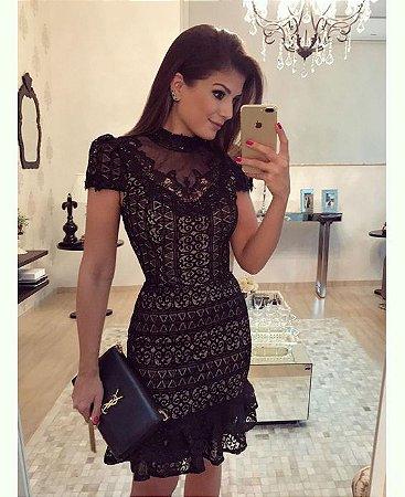 977b81c10 VESTIDO PRETO DE RENDA E TULE K 86AH7PVT8 - Livia Fashion - Atelier ...