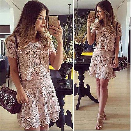 6c09e1ab7 CONJUNTO NUDE RENDA K RCV4HQL4H - Livia Fashion - Atelier de costura ...