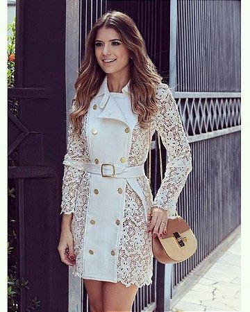 Vestido Blazer Com Renda K Kydkw9y6b