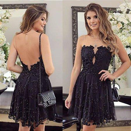 a5634c0ed VESTIDO PRETO RENDA E TULE K SEFBTYVA8 - Livia Fashion - Atelier de ...