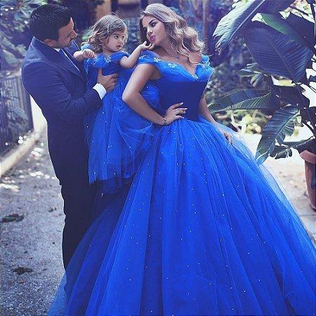 vestido cinderela azul royal a vtdwbm6ak livia fashion atelier