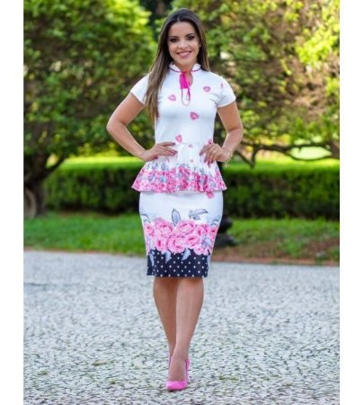 a1b822423 CONJUNTO BLUSA PEPLUM ESTAMPA FLORAL K E6339Z5B7 - Livia Fashion ...
