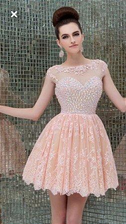 2f8297c284 VESTIDO FESTA CURTO COM BORDADO RENDA ROSA - Livia Fashion - Atelier ...