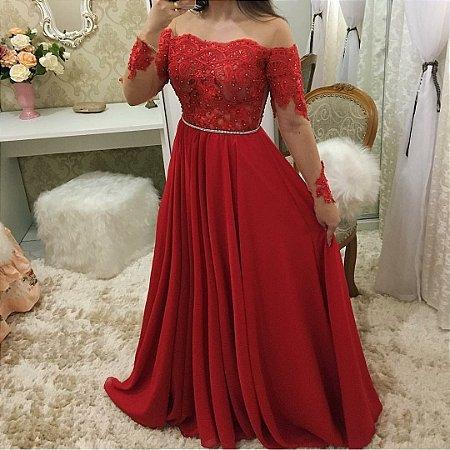 e6320e0c6 VESTIDO VERMELHO RENDA E TULE K Y3ZX7UGQE - Livia Fashion - Atelier ...