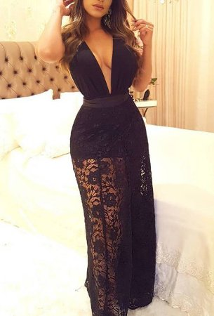 52d0ee2e21 VESTIDO PRETO SAIA DE RENDA E HOT PANTS K CTLXPX5ZW - Livia Fashion ...