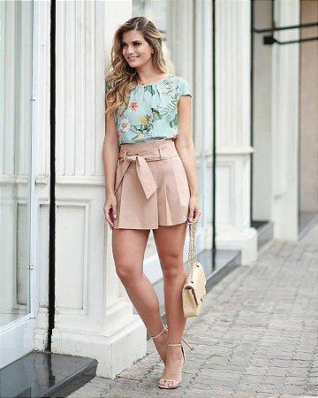 abcdfb4ff3 CONJUNTO BLUSA ESTAMPADA SAIA COM FAIXA K UEJZYVMC5 - Livia Fashion ...